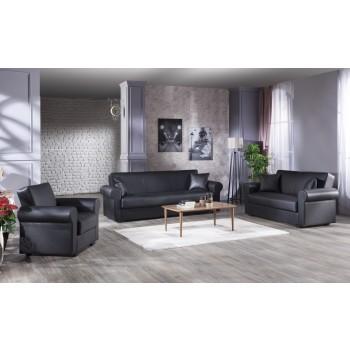 Floris 3-Piece Living Room Set, Santa Glory Black