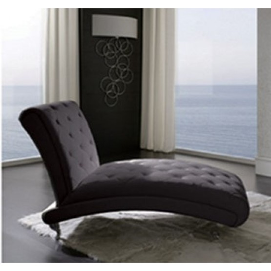 Nelly B6 Chaise Lounge, Black photo