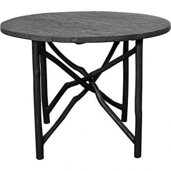 """Ashton 40"""" Branch Dining Table, Black by NPD (New Pacific Direct)"""
