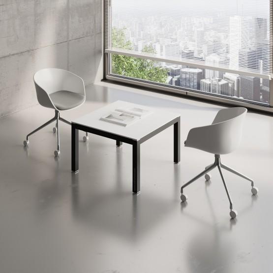 Impuls Small Table IM57, Black + White Pastel photo