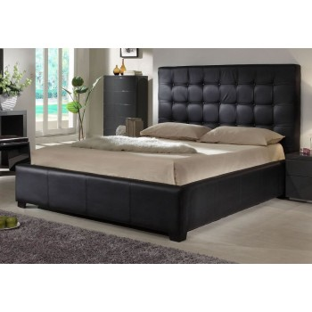 Athens Queen Size Bed, Black