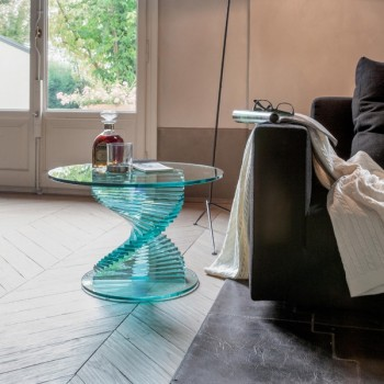 Ariel Side Table, Clear Transparent