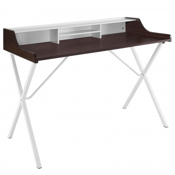 Bin Office Desk, Cherry by Modway