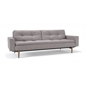 Dublexo Sofa Bed w/Arms, 505 Begum Grey Fabric