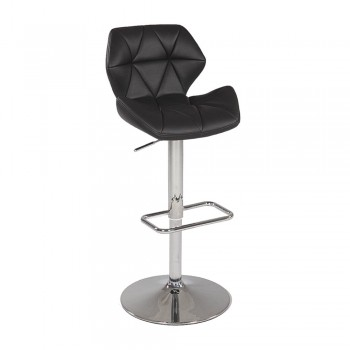 0645 Pneumatic Gas Lift Swivel Height Stool, Black by Chintaly Imports