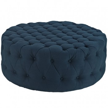 Amour Fabric Ottoman, Azure by Modway