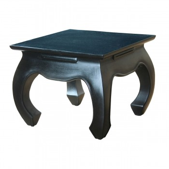 Shasta Side Table In Black Aged Antique Finish
