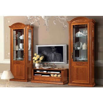 Siena 3-Piece Entertainment Set w/Mini TV Cabinet, Walnut