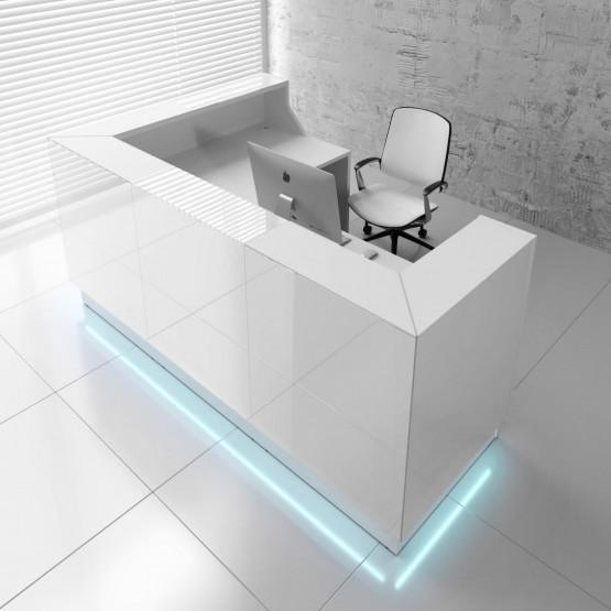Linea LIN39P Reception Desk, White photo