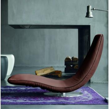 Ricciolo Chaise Lounge, Hazel Eco-Leather