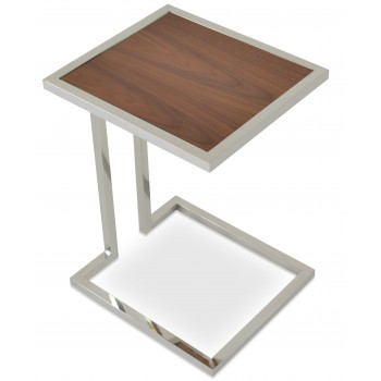Hudson End Table, Walnut  by SohoConcept Furniture