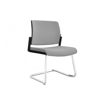 Aura Stackable Visitor Chair, Wire Steel Frame