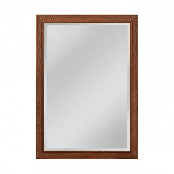 Angled Carved Wood Frame Mirror - Large