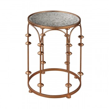 Copper Arch Accent Table