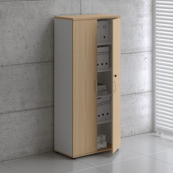 Basic K5104 Shelving Storage, White + Beech