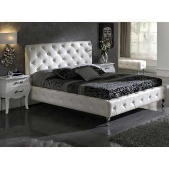 621 Nelly King Size Bed, White