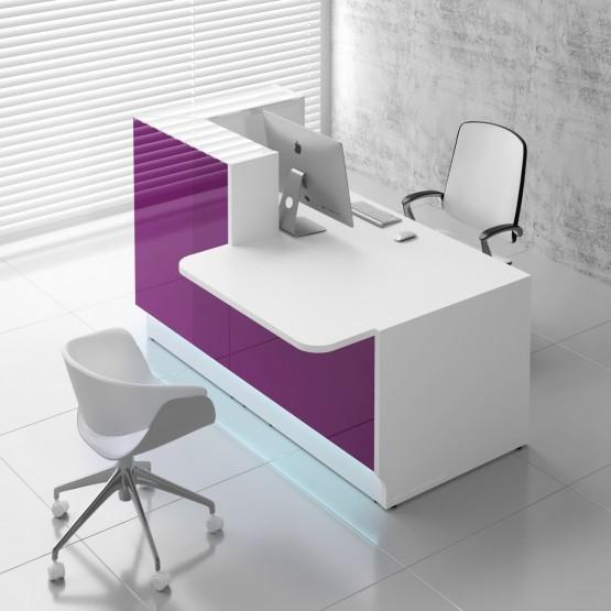 Linea LIN29L Reception Desk, Fuchsia photo