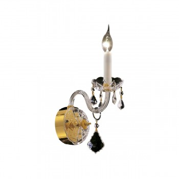 "Alexandria 1-Light 4"" Gold Wall Sconce in Spectra Swarovski"