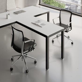 Impuls Desk Extension IM07, Black + White Pastel
