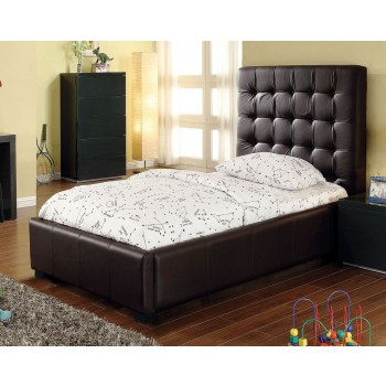 Athens Twin Size Bed, Chocolate