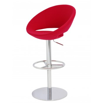 Crescent Piston Stool, Red Wool by SohoConcept Furniture