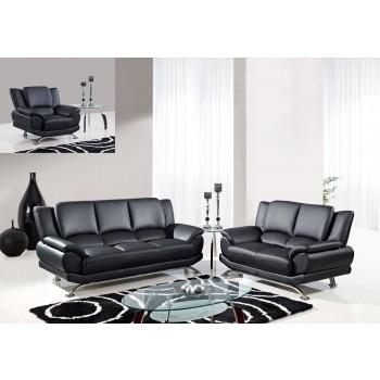 U9908 3-Piece Living Room Set, Black