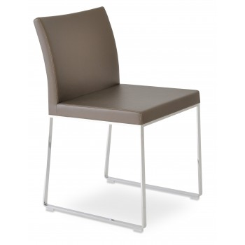 Aria Sled Dininng Chair, Golden PPM by SohoConcept Furniture