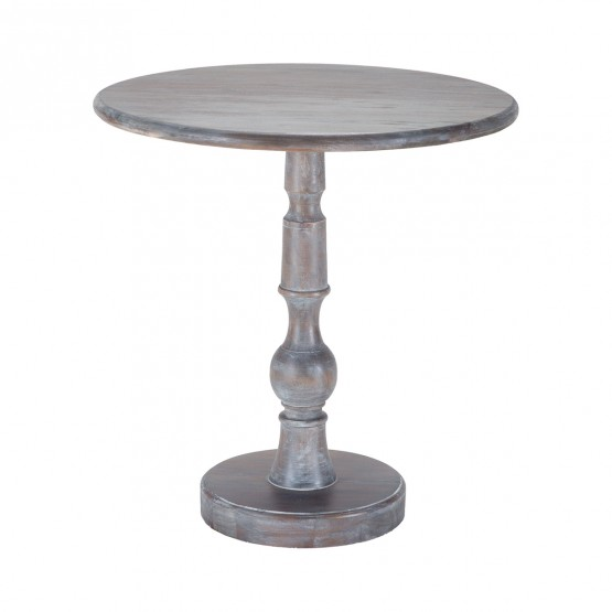 Acanthus Post Side Table In Waterfront Grey Stain With White Wash photo