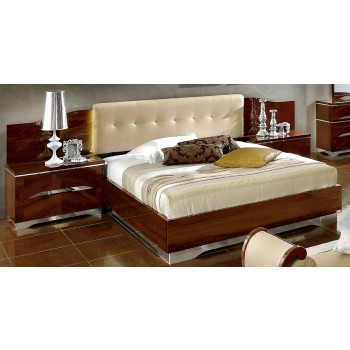 Matrix Queen Size Bed, Beige Headboard