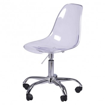 Allen Molded PC Office Chair, Transparent Crystal, Set of 2 by NPD (New Pacific Direct)