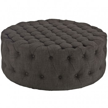Amour Fabric Ottoman, Brown by Modway