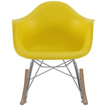 Rocker Kids Chair, Yellow by Modway
