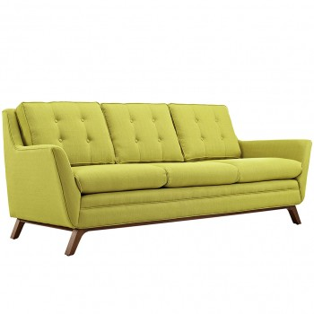 Beguile Fabric Sofa, Wheatgrass by Modway