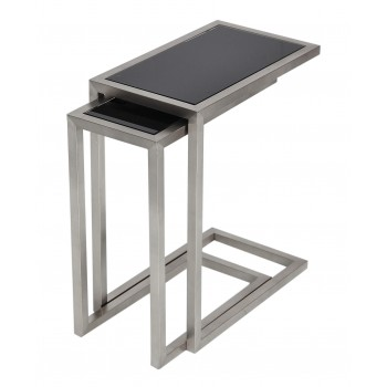 Alfa Nesting Table, Black Glass by SohoConcept Furniture