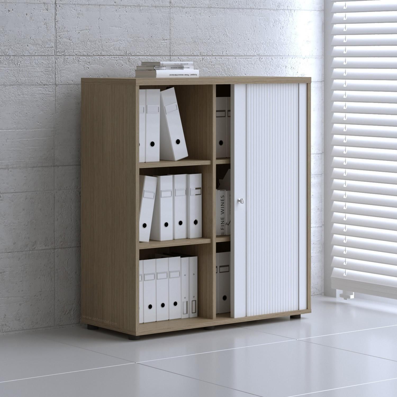 Tambour Pro Storage Unit IA48L48, Canadian Oak + White Front