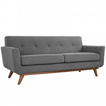 Engage Upholstered Loveseat, Expectation Gray by Modway
