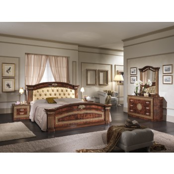 Alexandra Queen Size Bedroom Set w/Upholstered Headboard