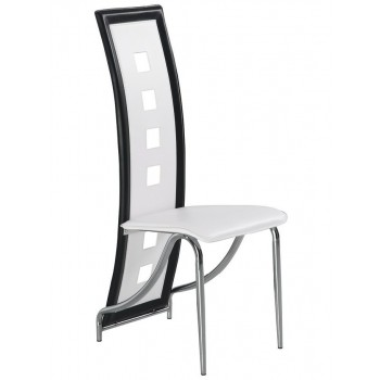 D803-WH Dining Chair, White