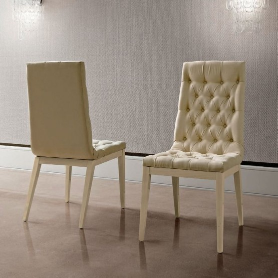 Ambra Capitonne Dining Chair, Eco Nubuck photo