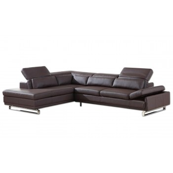 Cliff Sectional, Left Arm Chaise Facing, Brown