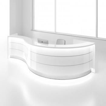 Valde LAV06L Reception Desk, High Gloss White