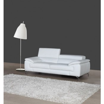 A973 Italian Leather Sofa, White by J&M Furniture