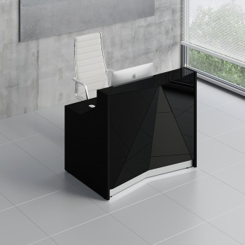 Alpa ALP05 Reception Desk, Black