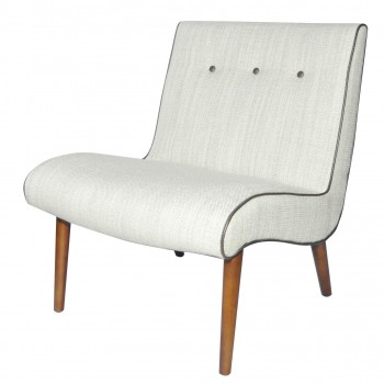 Alexis Fabric Chair, Amber Legs, Canvas by NPD (New Pacific Direct)