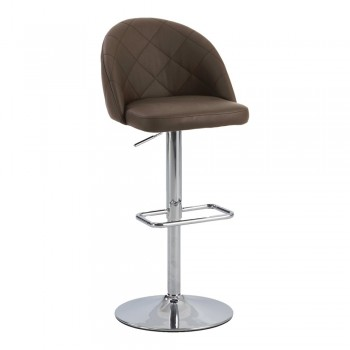 0669 Diamond Pattern Pneumatic Stool, Brown