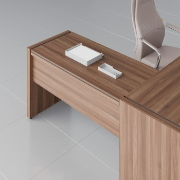 Status Right Side Desk Extension X15, Lowland Nut