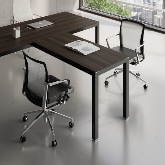 Impuls Desk Extension IM07, Black + Chestnut photo