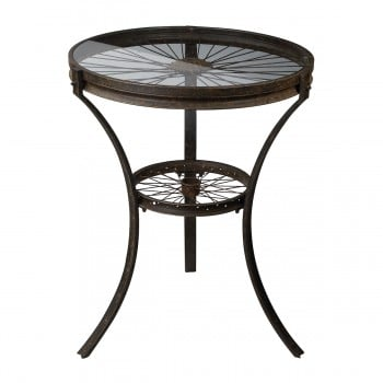 Industrial Style Railroad Side Table