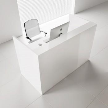 Tera TRA118 Reception Desk, White Pastel
