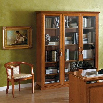 Nostalgia 3-Door Bookcase, Walnut